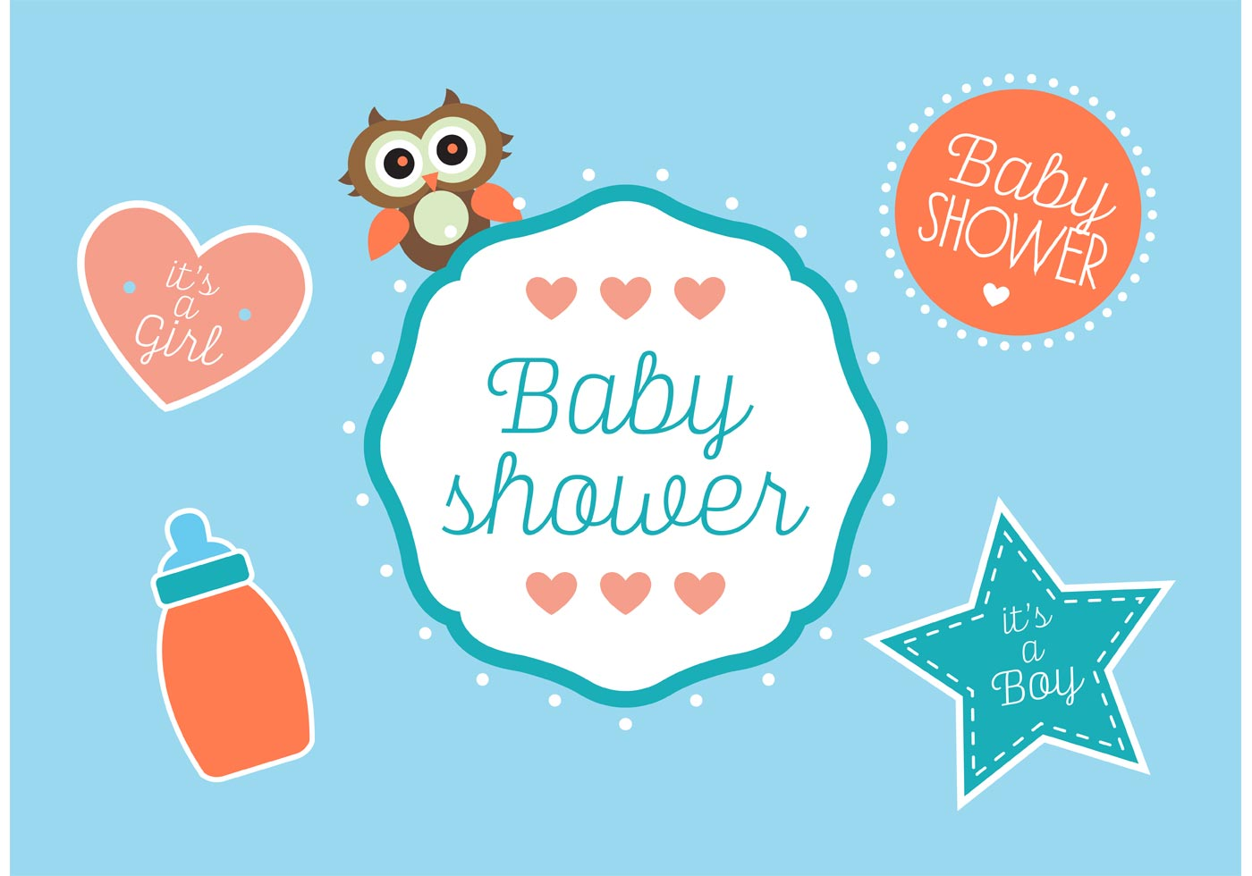 Cute Elephant Cartoon Wallpapers Baby Shower Vectors Download Free Vector Art Stock