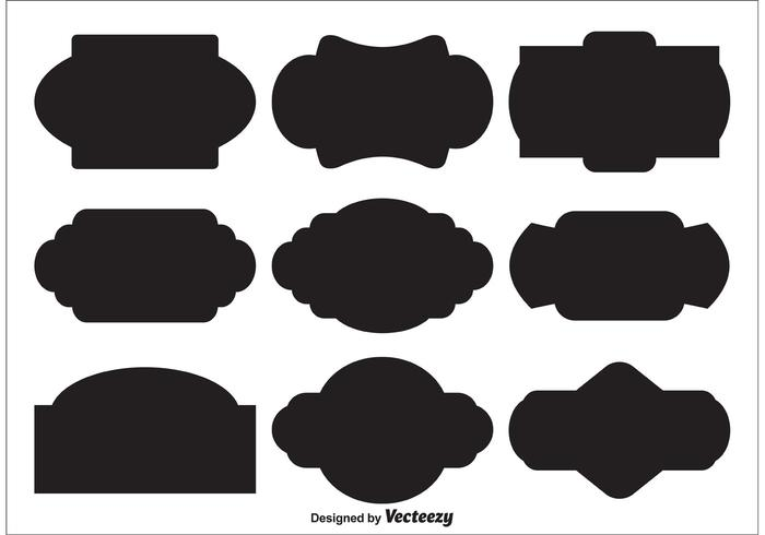 Vector Label Shapes - Download Free Vector Art, Stock Graphics  Images - label