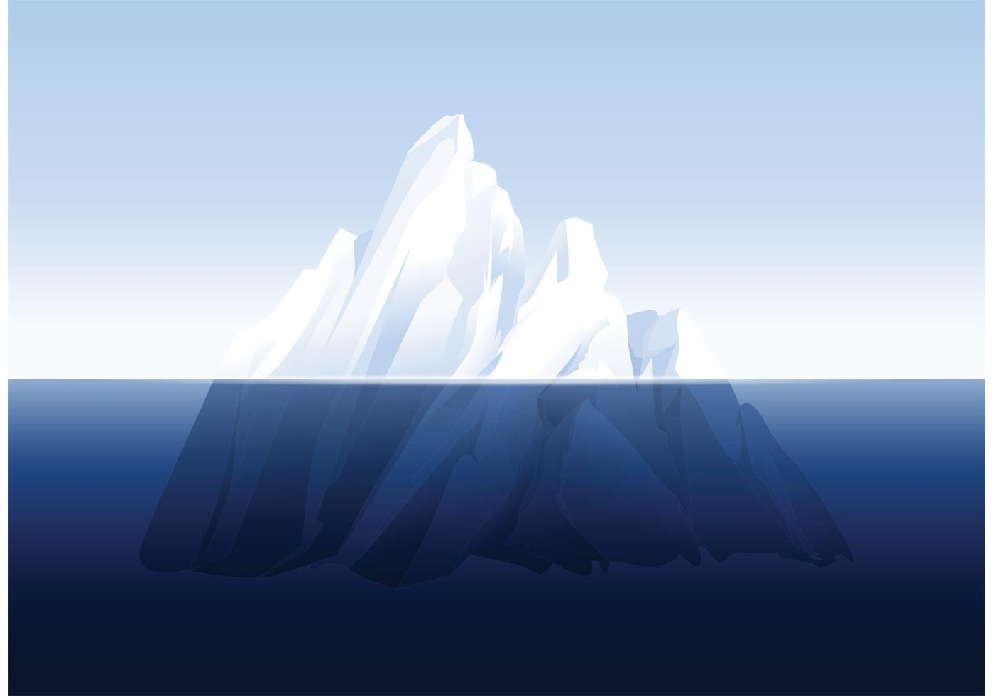 Clipart Pictures Iceberg Free Iceberg Underwater Vector Download Free Vector Art