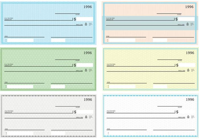 Blank Check Vector Pack - Download Free Vector Art, Stock Graphics