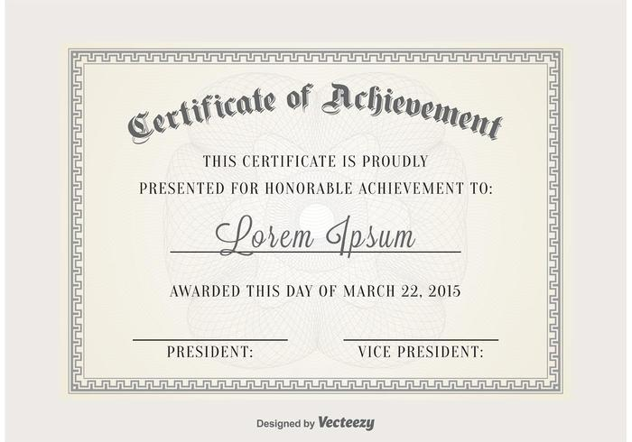 Certificate Vector Template - Download Free Vector Art, Stock - Certificate Of Birth Template