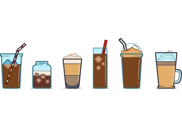Free Iced Coffee Cup Vectors Download Free Vector Art