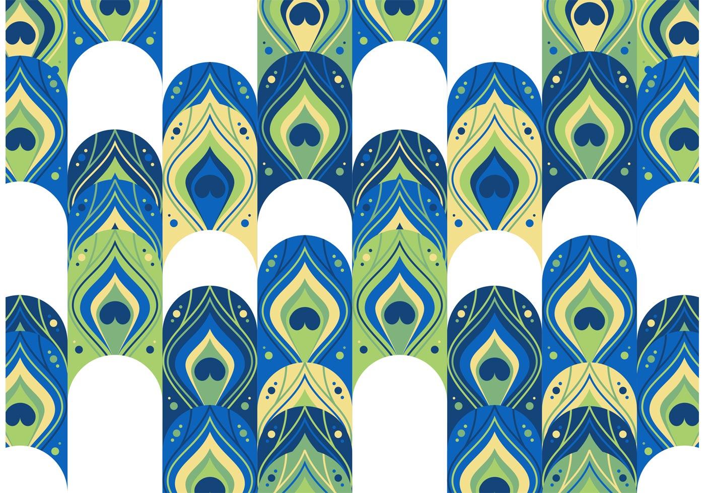 Ganapati Wallpaper 3d Peacock Pattern Free Vector Download Free Vector Art