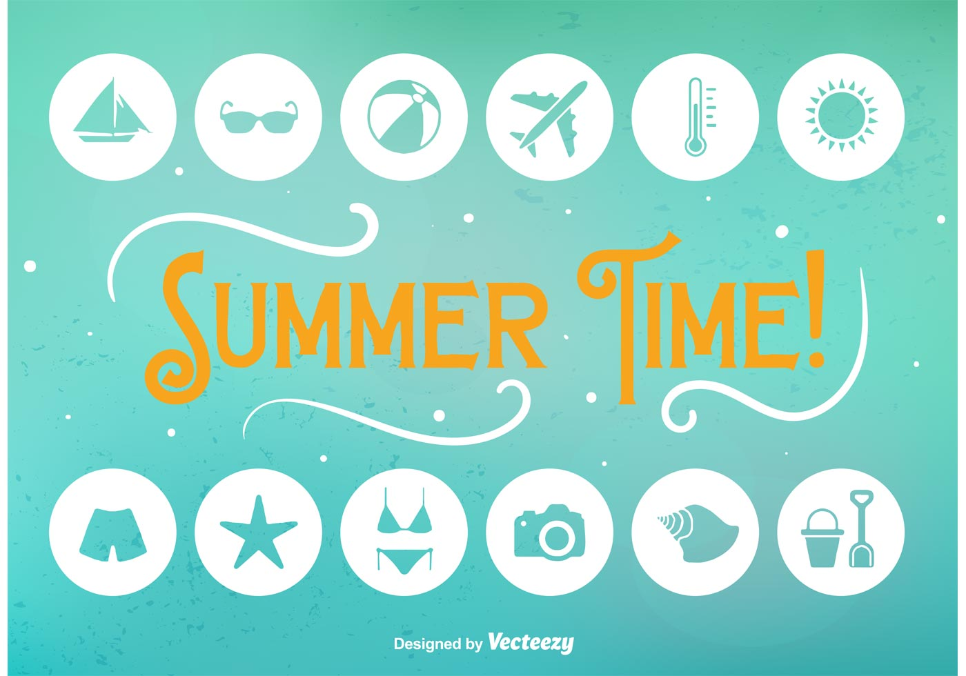 Cute Palm Tree Wallpaper Summer Time Flat Icons Download Free Vector Art Stock