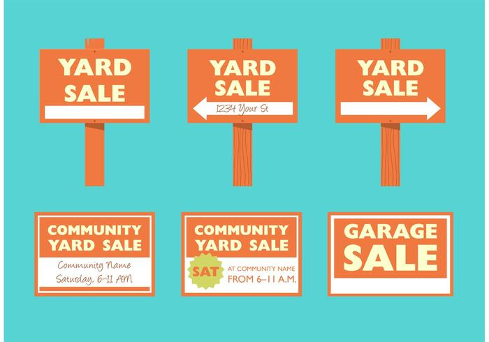 Yard Sale Signs - Download Free Vector Art, Stock Graphics  Images - sale signs