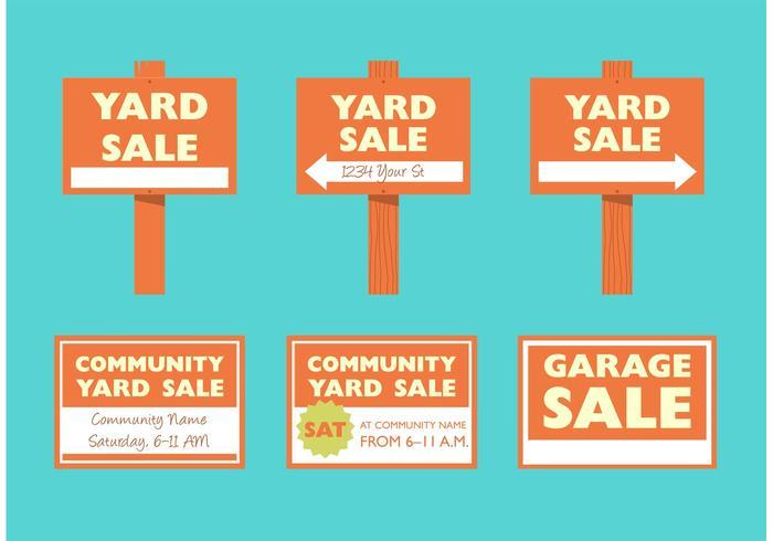 Printable Yard Sale Signs Free Vector Art - (56322 Free Downloads)