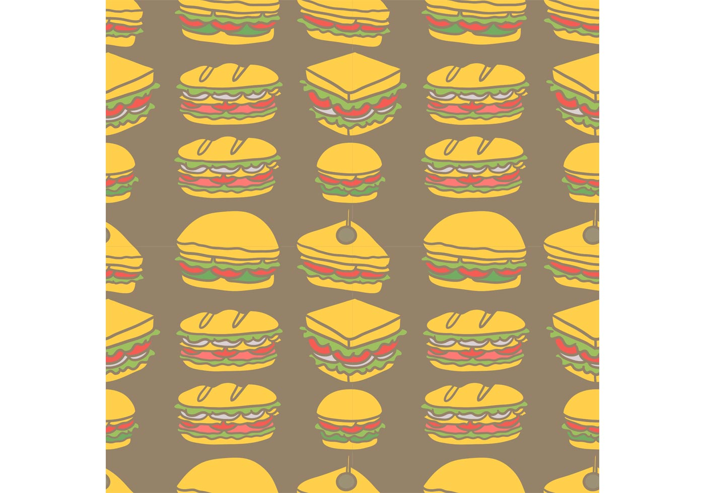 Cute Cartoon Horse Wallpaper Free Club Sandwich Seamless Pattern Vector Download Free
