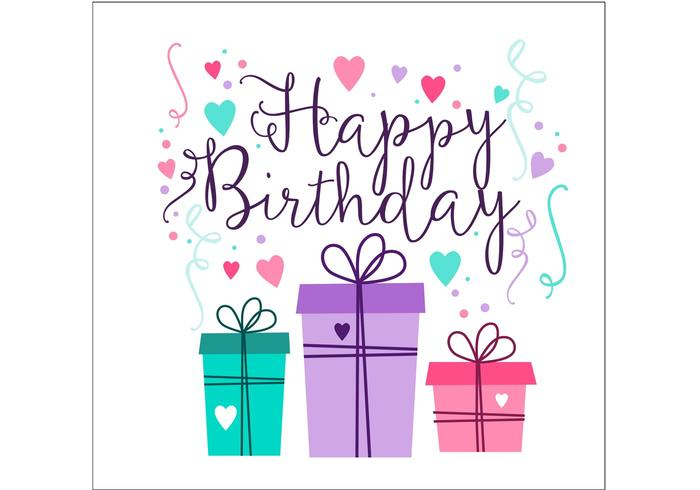 Birthday Card Design - Download Free Vector Art, Stock Graphics  Images