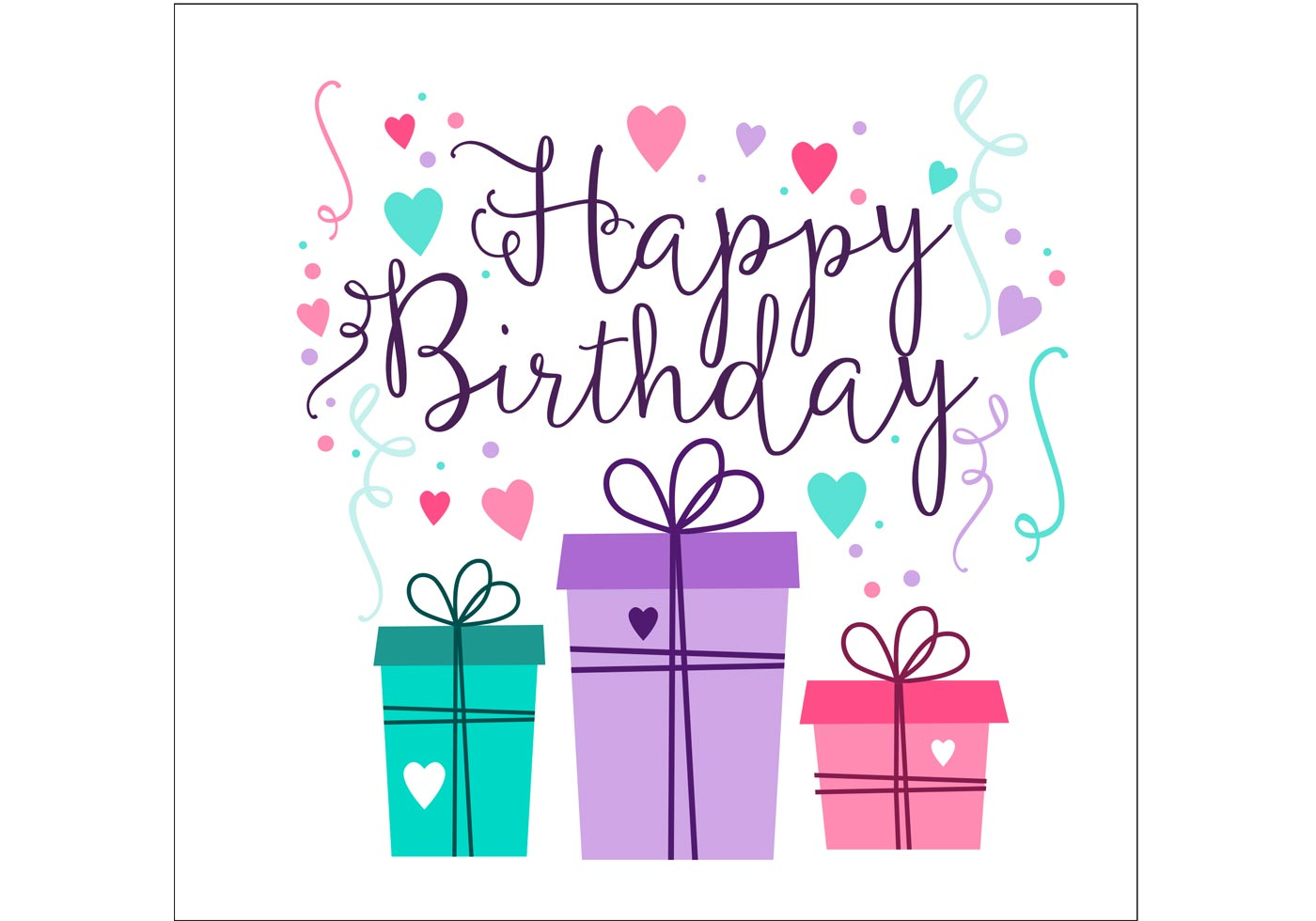 Geburtstagskarte Gestalten Birthday Card Design - Download Free Vector Art, Stock