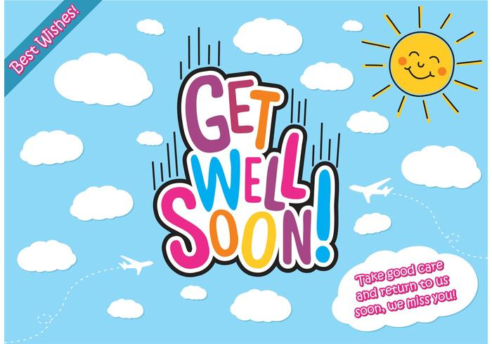 Get Well Soon Cards Vector Free - Download Free Vector Art, Stock