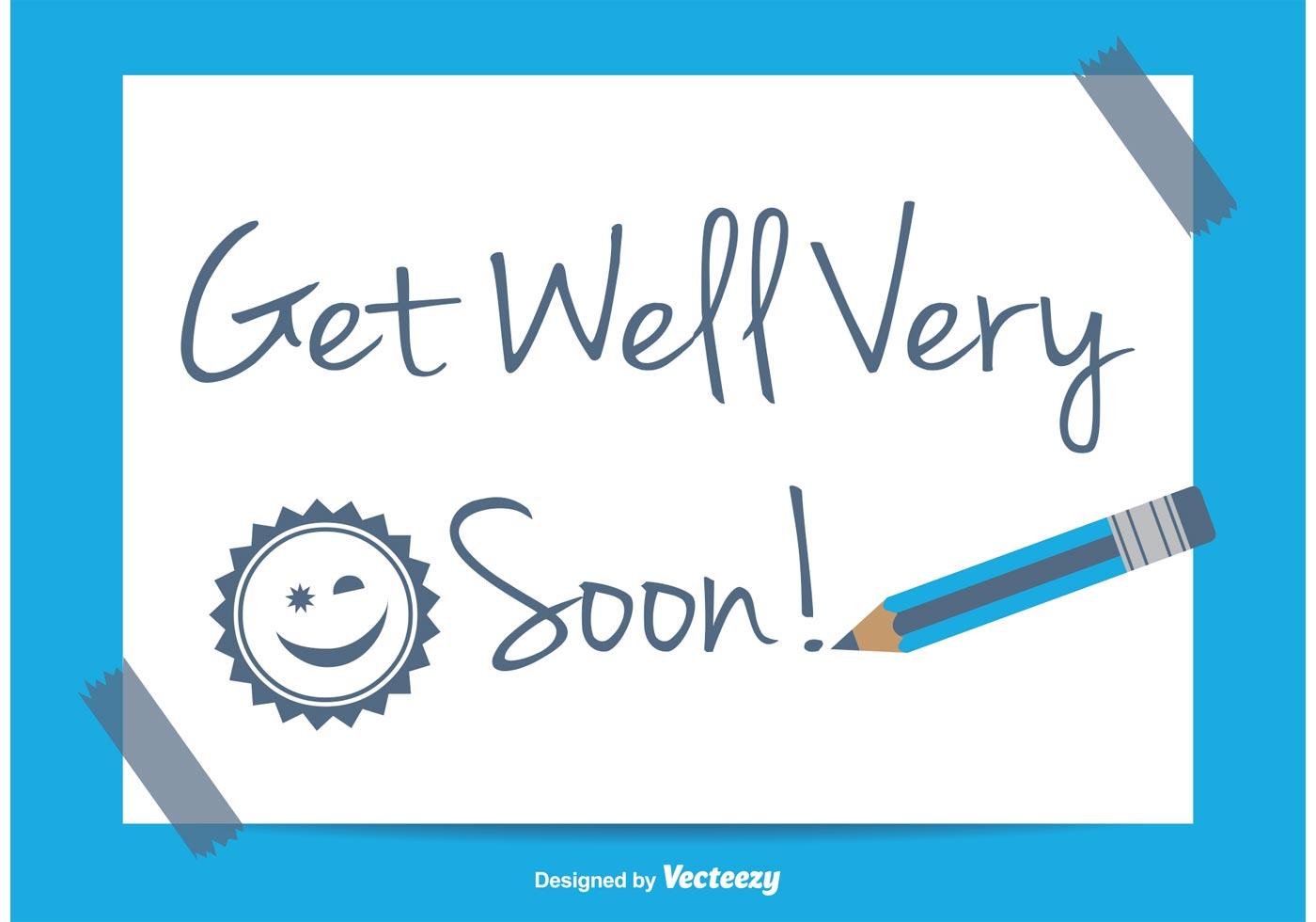Get Well Soon Illustration Download Free Vector Art