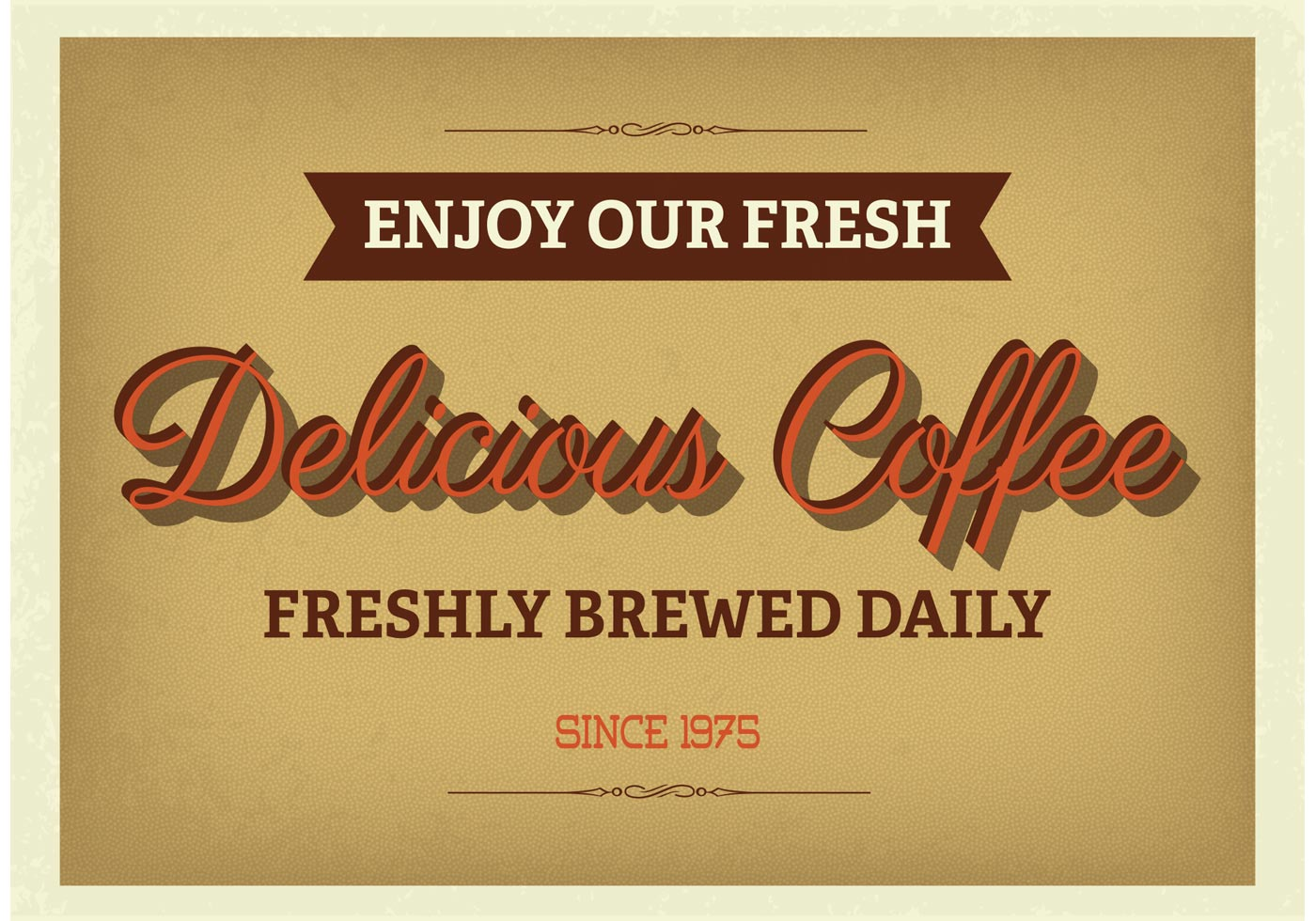 Kaffee Poster Vintage Typographic Coffee Poster Download Free Vector