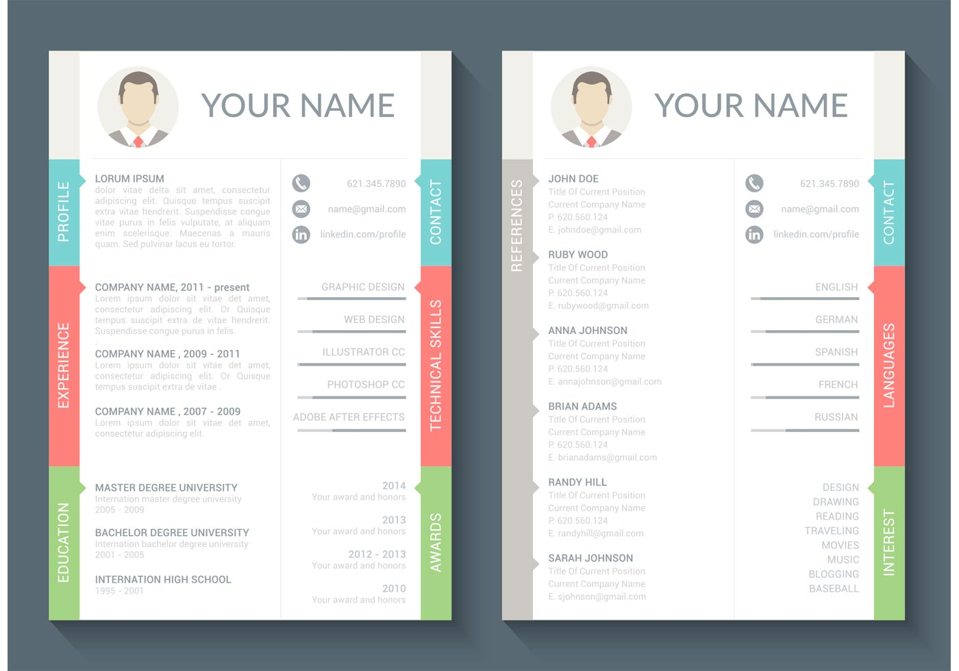 original cv design download