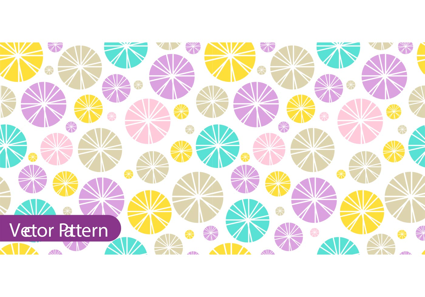 Cute Circle Wallpaper Colorful Retro Pattern Vector Download Free Vector Art