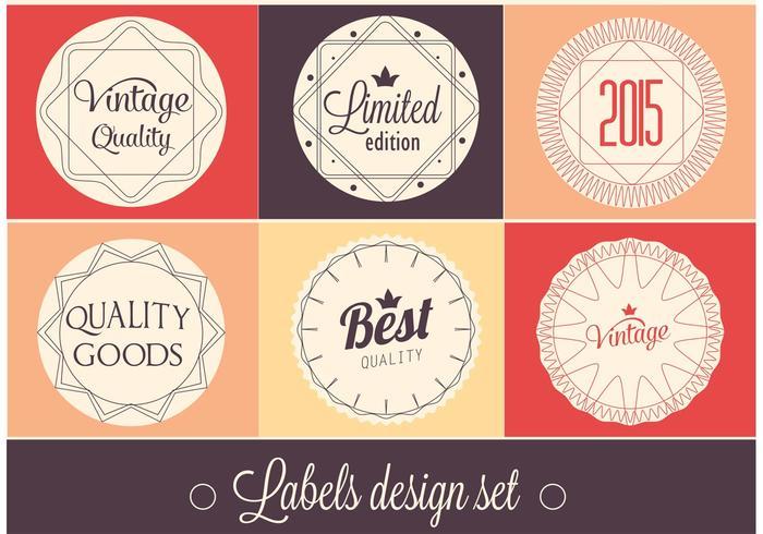 Free Vector Label Design Set - Download Free Vector Art, Stock