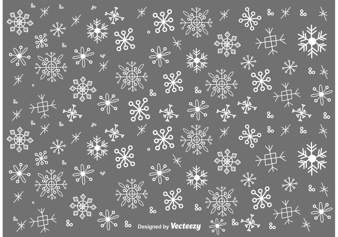 Snow Falling Background Wallpaper Snow Flakes Doodles Vector Set Download Free Vector Art