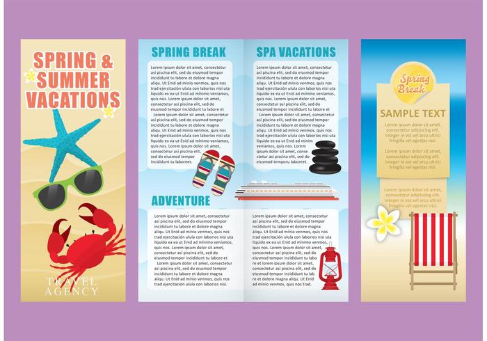 Vacations Brochure Template Vectors - Download Free Vector Art - Vacation Brochure Template