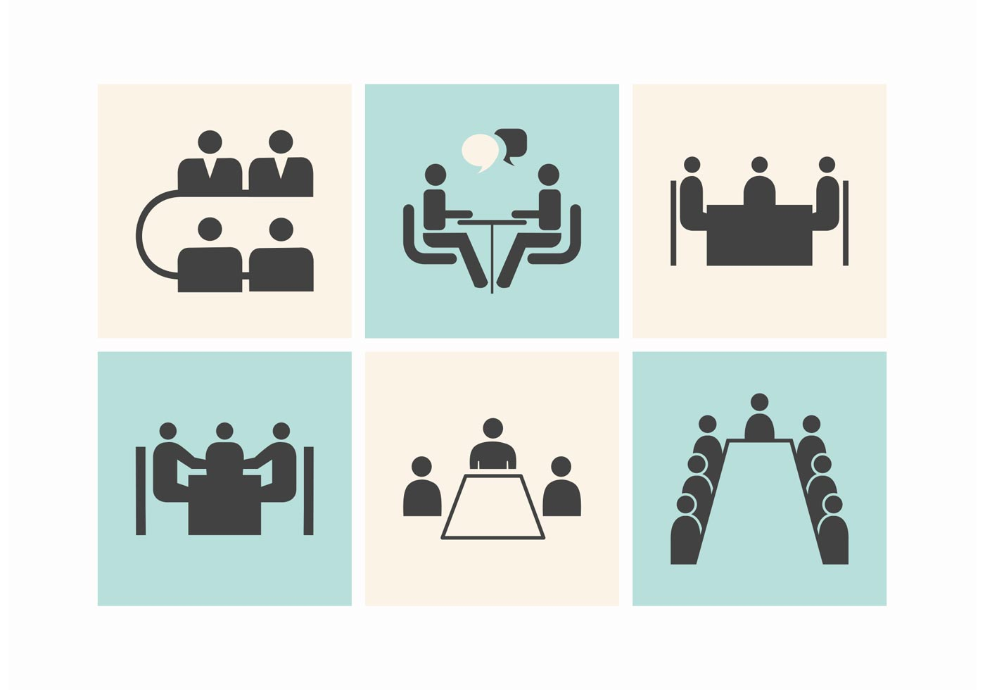 Free business meeting tables vector icons download free