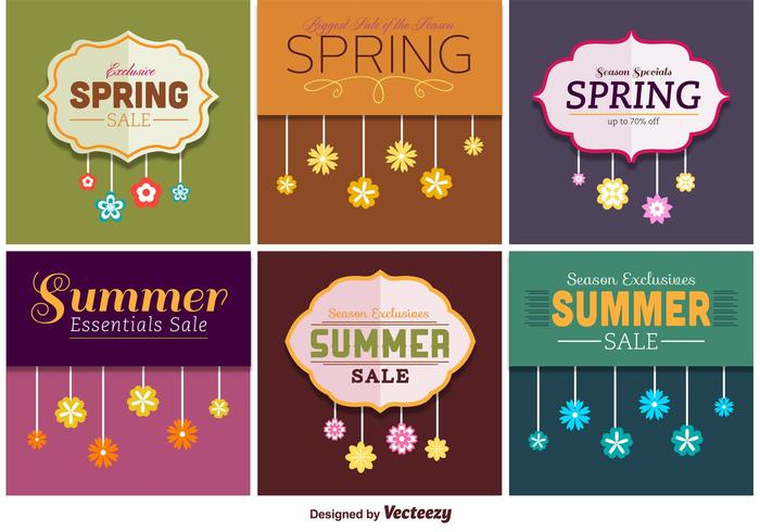 Spring and Summer Sale Signs - Download Free Vector Art, Stock - sale signs