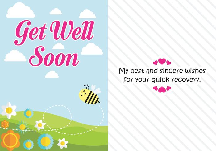 Get Well Soon Card - Download Free Vector Art, Stock Graphics  Images - get well soon card