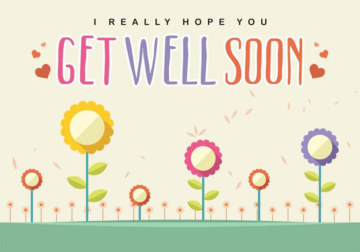 Get Well Soon Card Vector - Download Free Vector Art, Stock Graphics - get well soon card