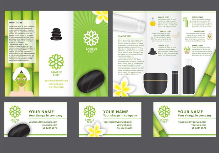 Spa Tri Fold Brochure Vector Template - Download Free Vector Art
