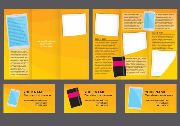 Business Fold Brochure Vector - Download Free Vector Art, Stock - folded brochure