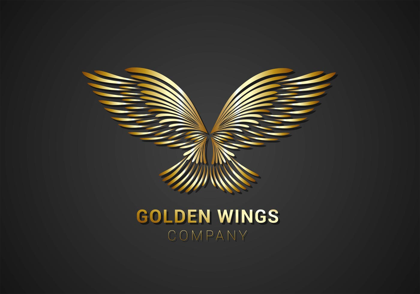 As Royal Decor 3d Wallpaper Golden Wings Logo Vector Download Free Vector Art Stock