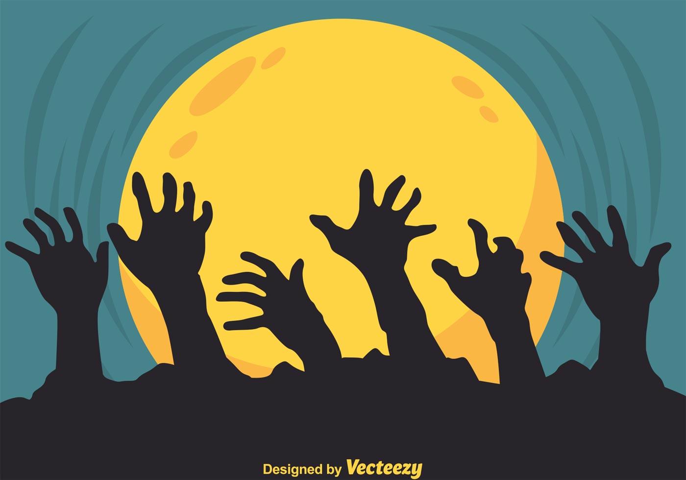 Victorian Wallpaper Black Vector Zombie Hands Silhouette Download Free Vector Art