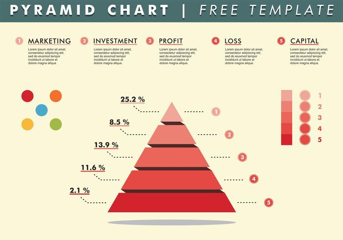 Pyramid Chart Template Vector Free - Download Free Vector Art, Stock