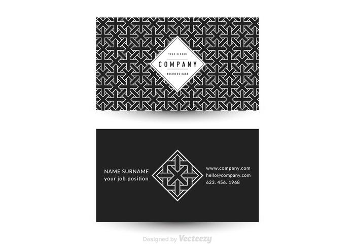 Free Vector Geometric Business Card Template - Download Free Vector