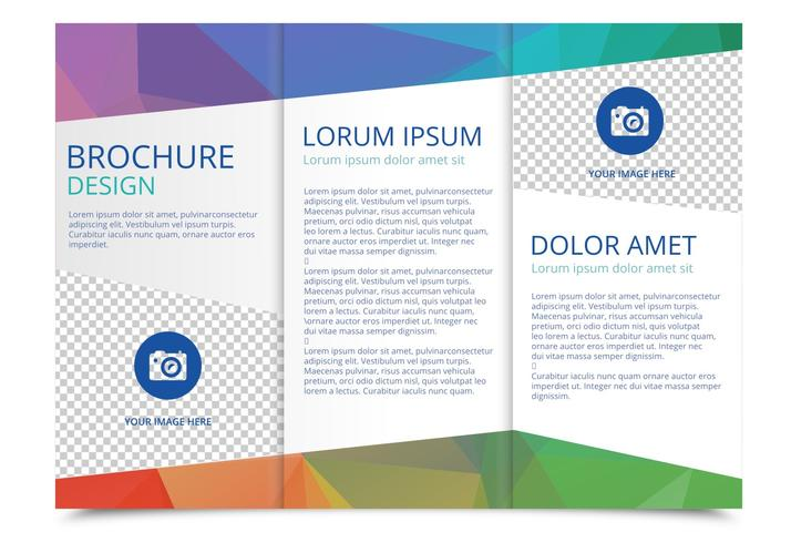 Tri Fold Brochure Vector Template - Download Free Vector Art, Stock - Tri Fold Brochures Free
