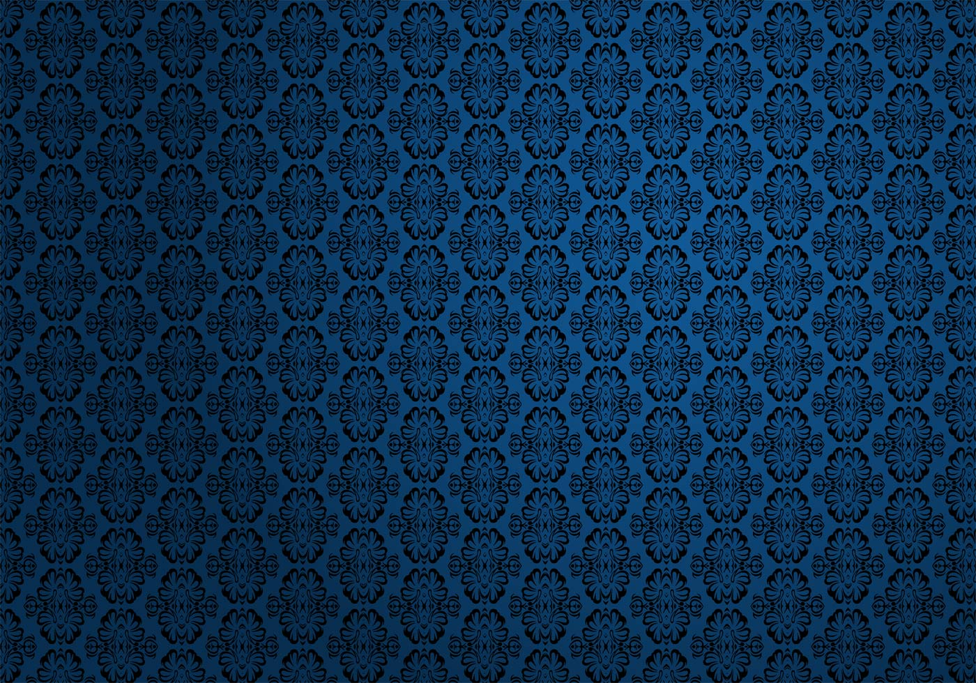 Black And Blue Floral Wallpaper Free Wallpaper Pattern Vector Download Free Vector Art