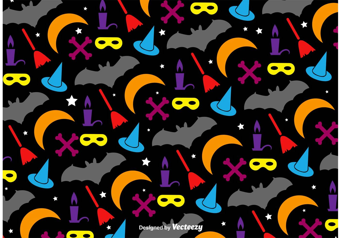Fall Wallpaper With Pumpkins Halloween Colourful Pattern Download Free Vector Art