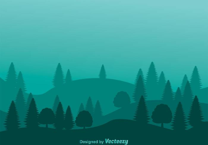 Gravity Falls Minimalist Wallpaper Mountain Forest Hills Background Download Free Vector
