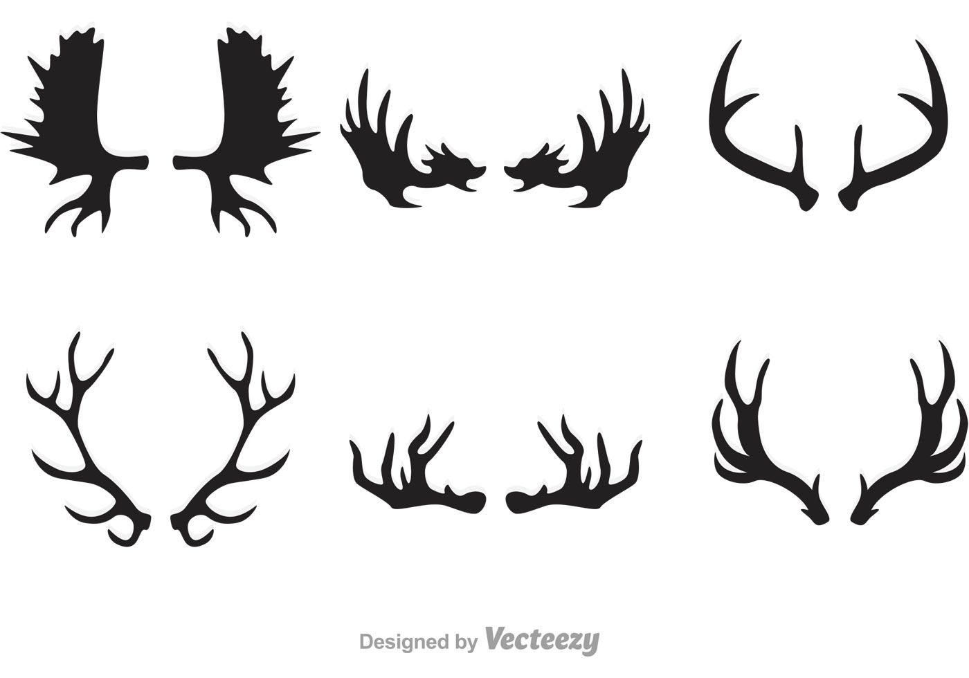 Elk Antlers Silhouette