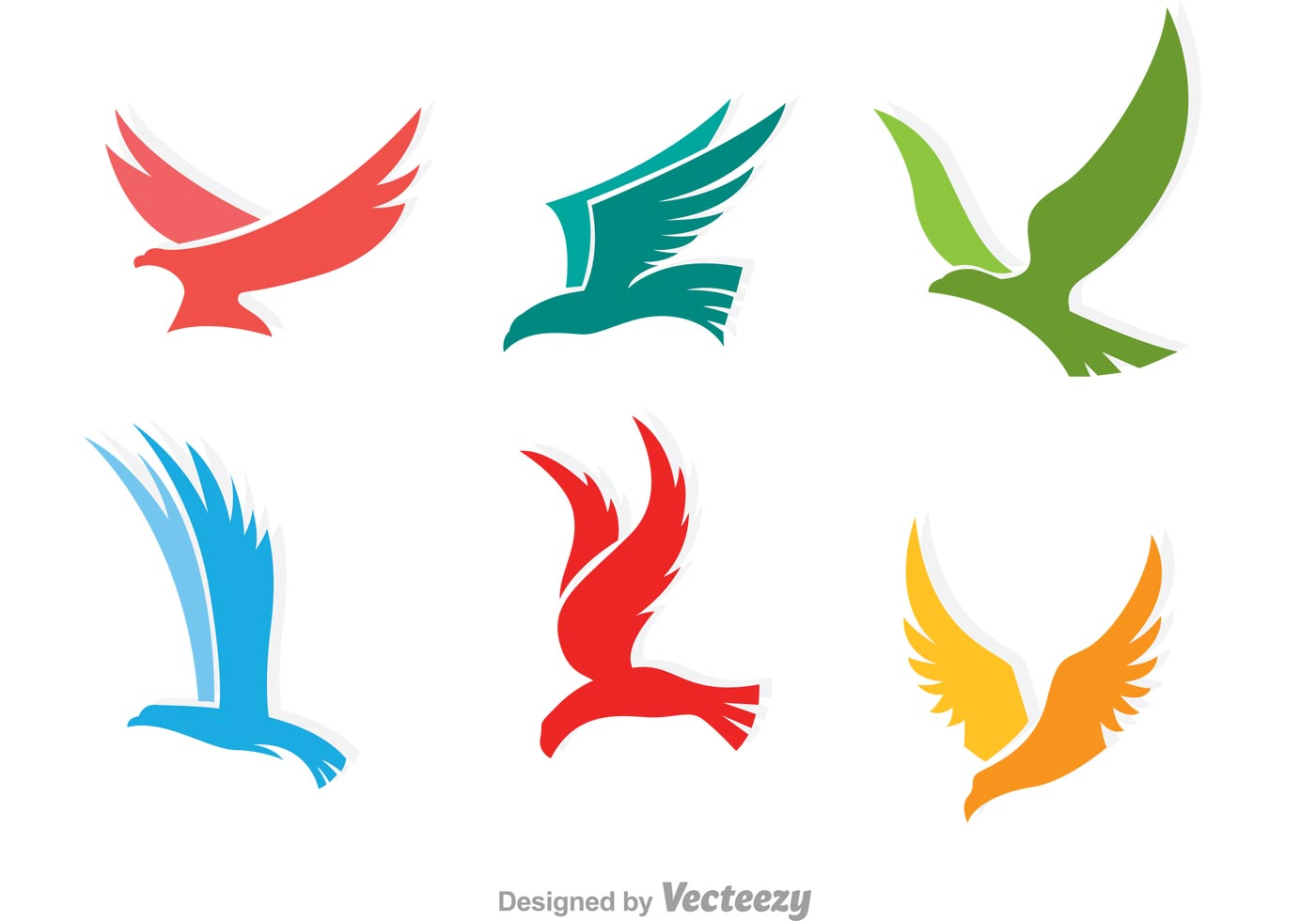Arte Logo Eps Colorful Flying Hawk Logo Download Free Vector Art
