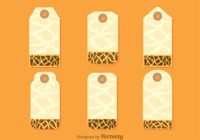 Giraffe Print On Hanging Note Template - Download Free Vector Art - Note Template