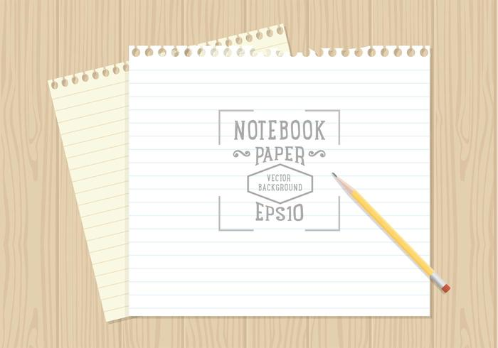 Notebook Paper Background Vector - Download Free Vector Art, Stock - notebook paper download