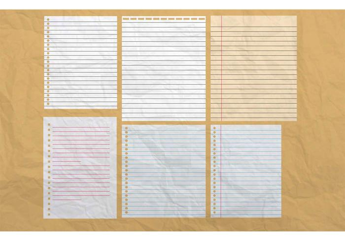 Lined Paper Free Vector Art - (16278 Free Downloads) - loose leaf paper background