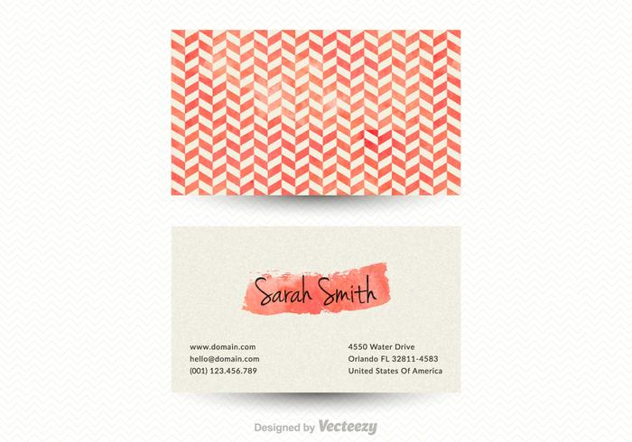 Free Vector Chevron Business Card Template - Download Free Vector