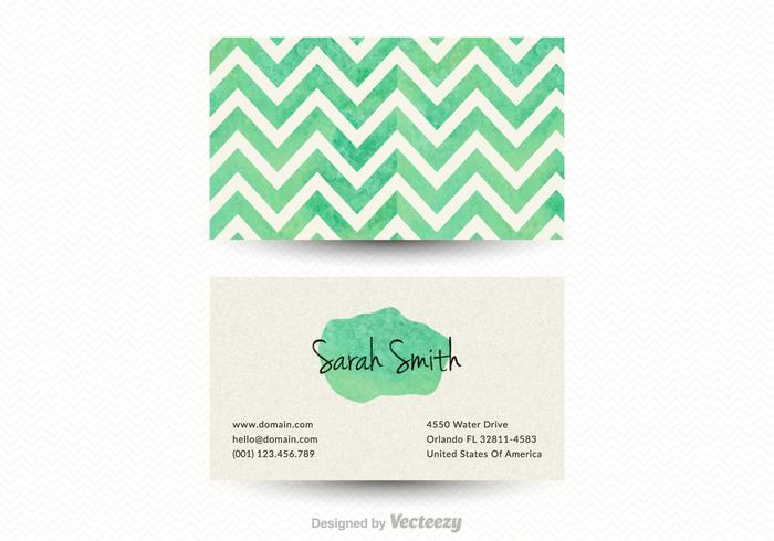 Free Chevron Business Card Vector Template - Download Free Vector