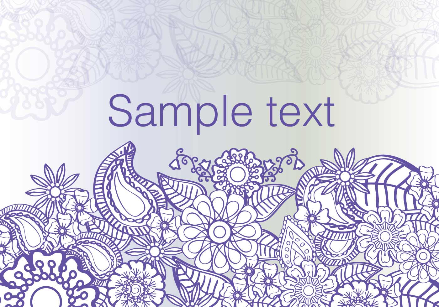 Cute Mandala Wallpaper Flowers Paisley Background Vector Download Free Vector