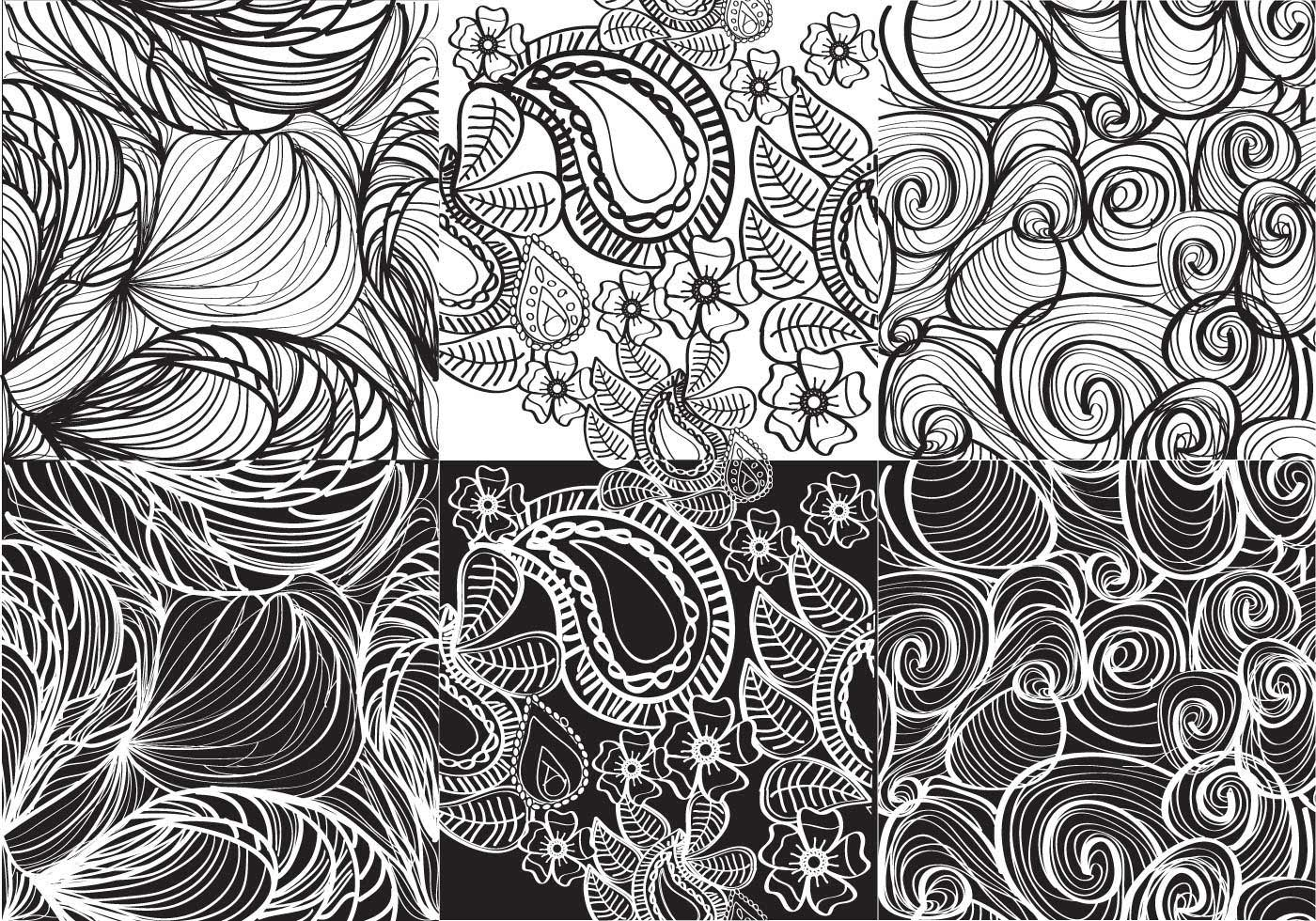 Cute Indian Baby Images For Wallpaper Set White And Black Paisley Vectors Download Free Vector