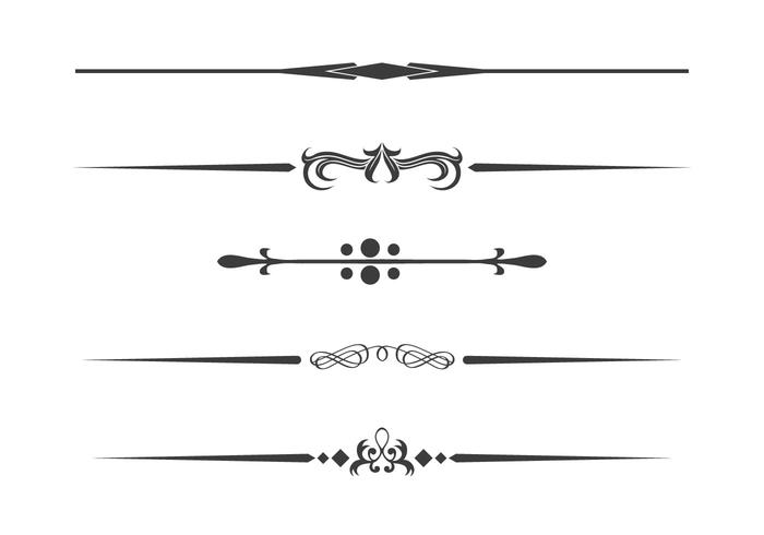 Divider Set Vector - Download Free Vector Art, Stock Graphics  Images