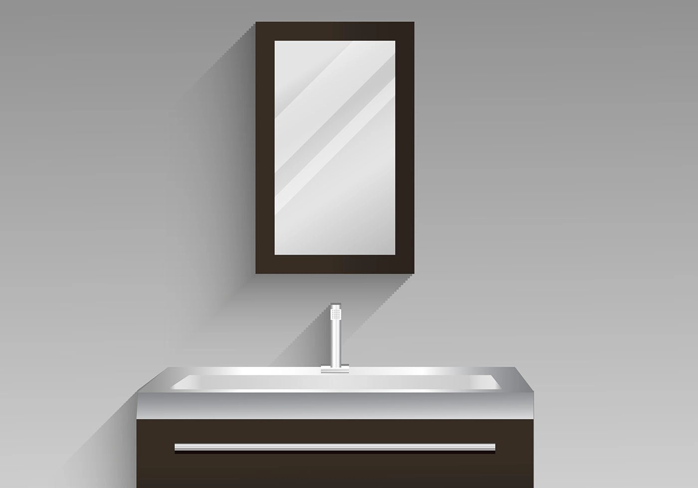Wc Symbol Bathroom Cabinet Vector Design Illustration - Download