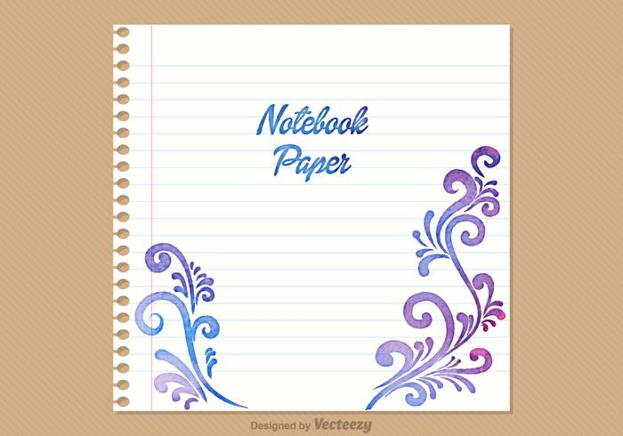 Free Notebook Paper Vector Background - Download Free Vector Art - notebook paper download