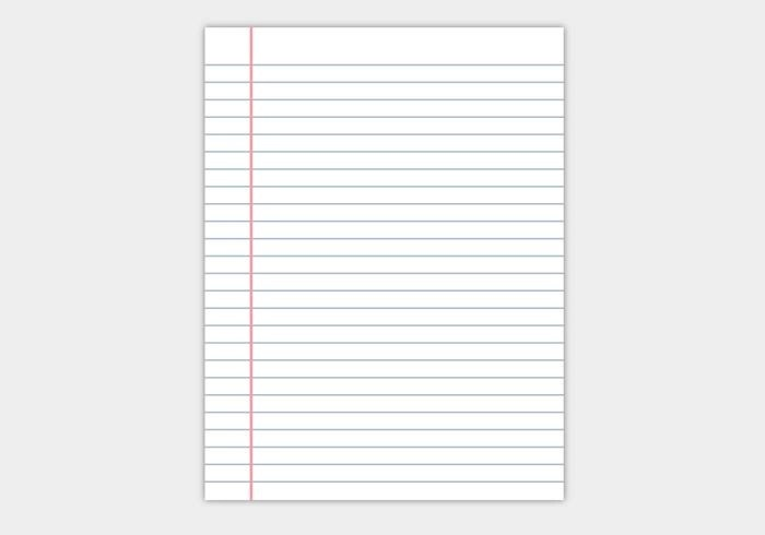Free Notebook Paper Vector - Download Free Vector Art, Stock - notebook paper download