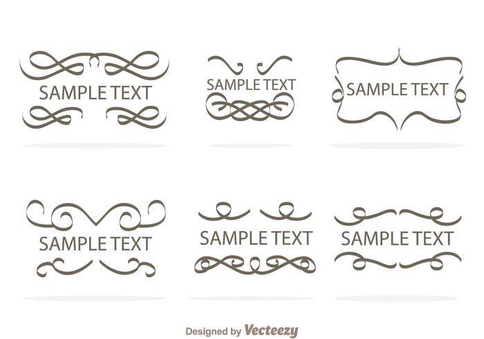 Swirly Text Border Vectors - Download Free Vector Art, Stock