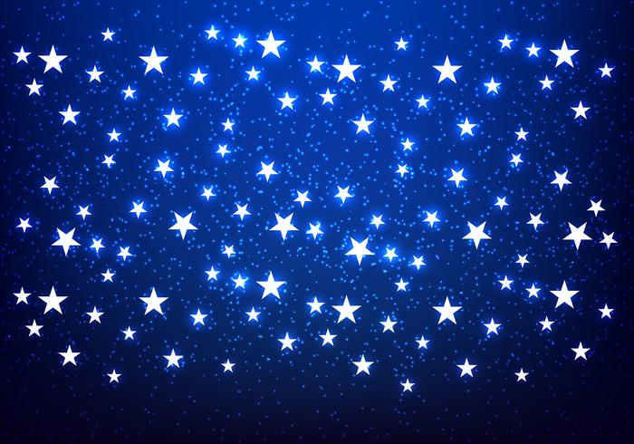 Cute Merry Christmas Wallpaper Backgrounds Shiny Stars Blue Background Vector Download Free Vector